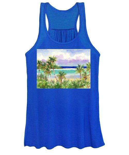 Coconut Palms And Lagoon, Aitutaki Women's Tank Top