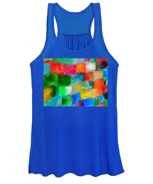 Colored Ice Bricks Women's Tank Top