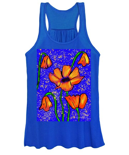 Colorful Flower- Poppies Women's Tank Top