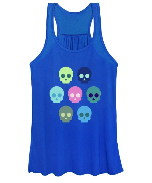 Colorful Skull Cute Pattern Women's Tank Top