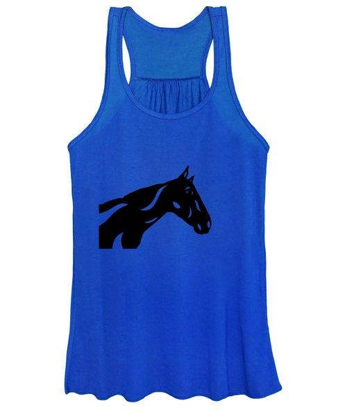 Crimson - Abstract Horse Women's Tank Top