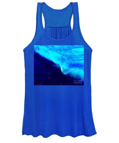 Crystal Blue Wave Painting Women's Tank Top