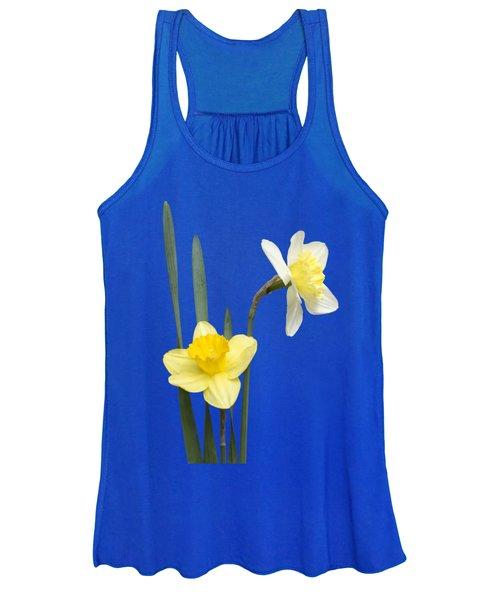 Daffodil Pair - Transparent Women's Tank Top