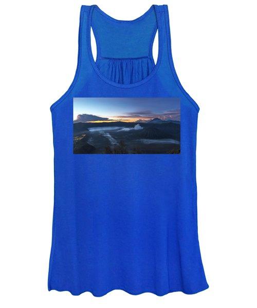 Dawn Breaking Scene Of Mt Bromo Women's Tank Top