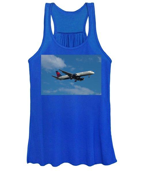 Delta Air Lines 757 Airplane N668dn Women's Tank Top