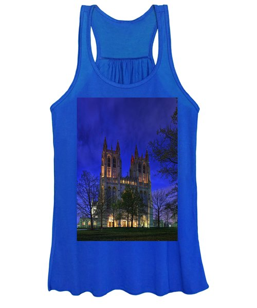 Digital Liquid - Washington National Cathedral After Sunset Women's Tank Top
