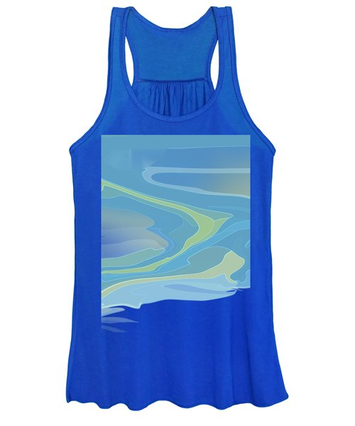 Women's Tank Top featuring the digital art Downstream by Gina Harrison