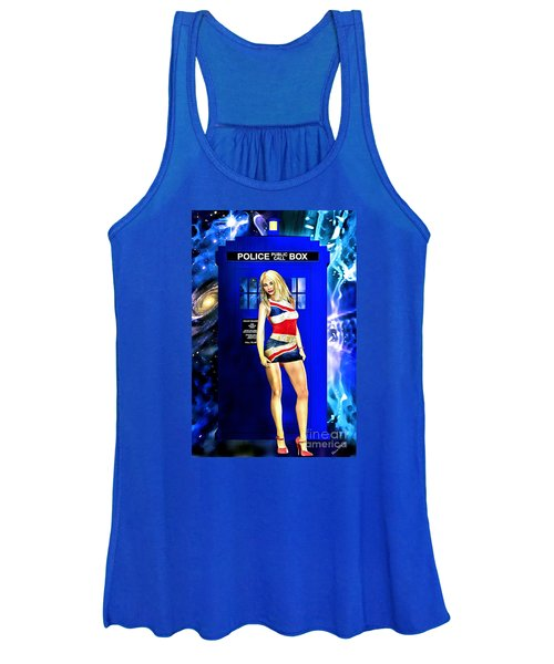 Doctor Who - Tardis And Rose Tyler Women's Tank Top