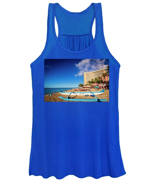 Early Morning At Outrigger Beach,hawaii Women's Tank Top