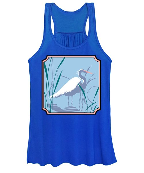 Egret Tropical Abstract - Square Format Women's Tank Top
