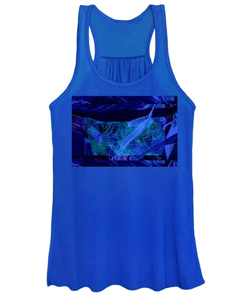 Fantasy With African Violets And Peace Lily 40 Women's Tank Top