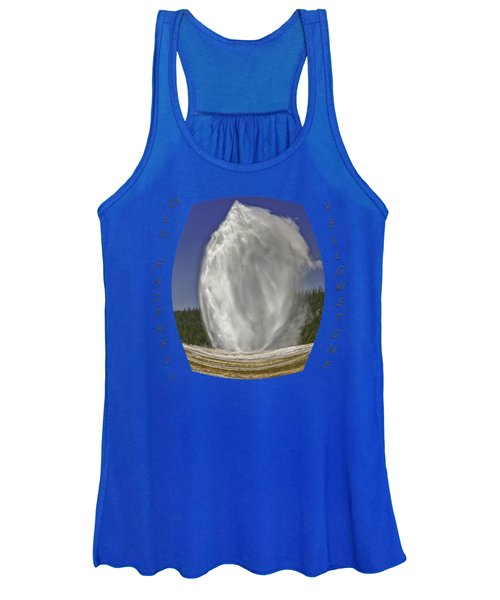 Fisheye Look At Old Faithful Women's Tank Top