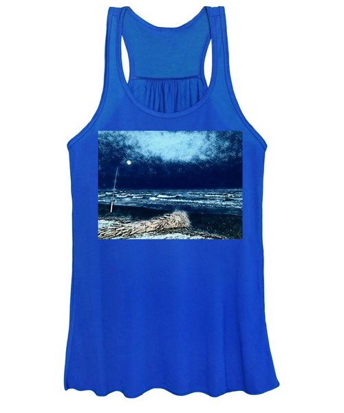Fishing For The Moon Women's Tank Top