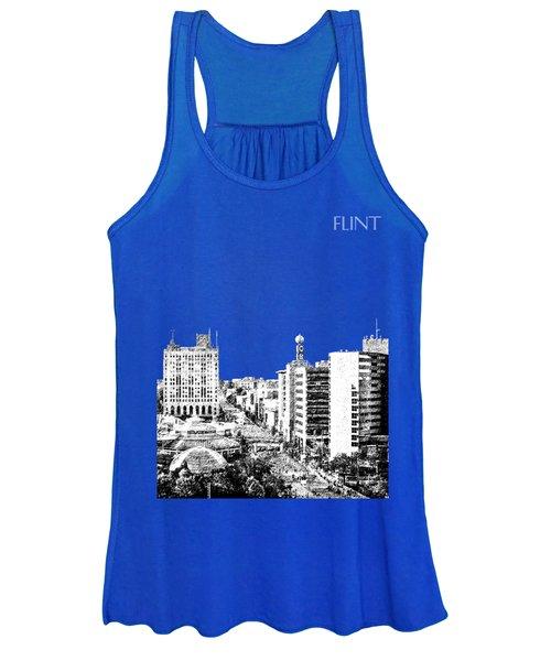 Flint Michigan Skyline - Aqua Women's Tank Top