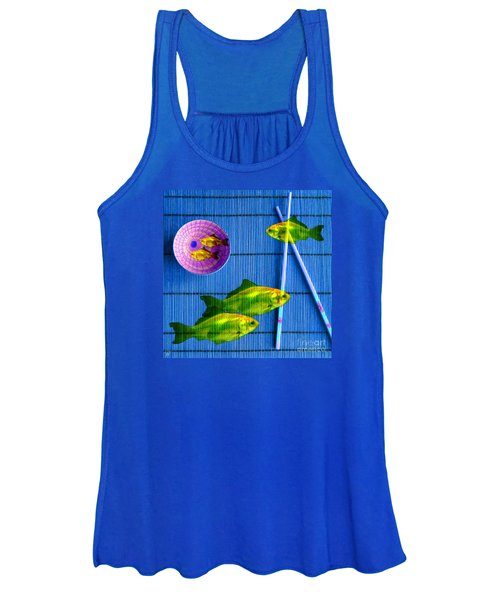 Flying Fish And The Pink Moon Women's Tank Top