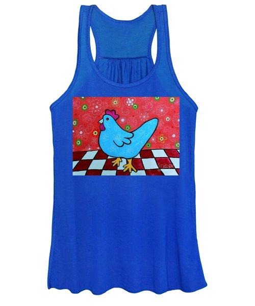 Folk Art Rooster Women's Tank Top