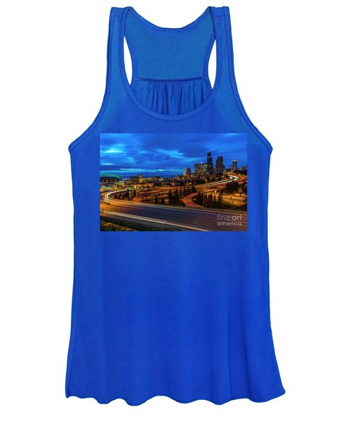 Freeway 5 North To Seattle Women's Tank Top