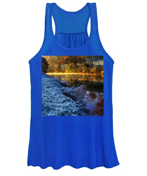 Frosty Autumnal Tamar River Women's Tank Top