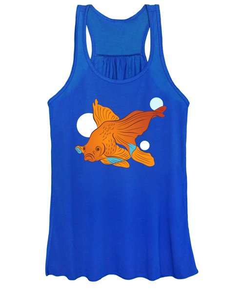 Goldfish And Bubbles Graphic Women's Tank Top