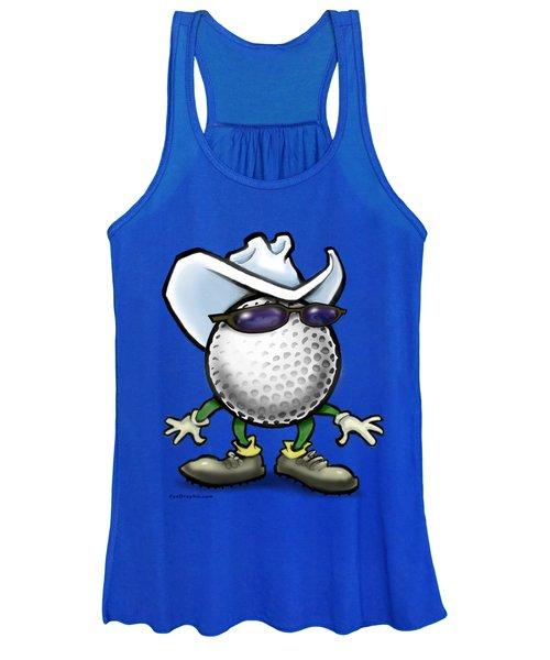 Golf Cowboy Women's Tank Top