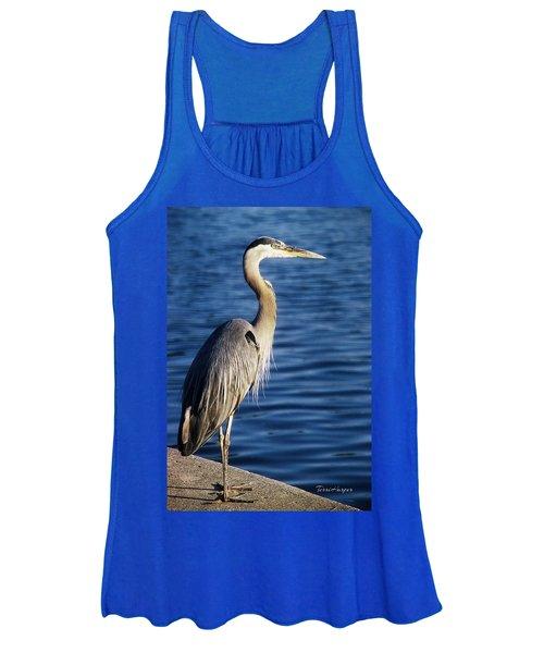 Great Blue Heron At Put-in-bay Women's Tank Top