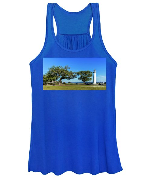 Gulf Coast Lighthouse Seascape Biloxi Ms 3663b Women's Tank Top