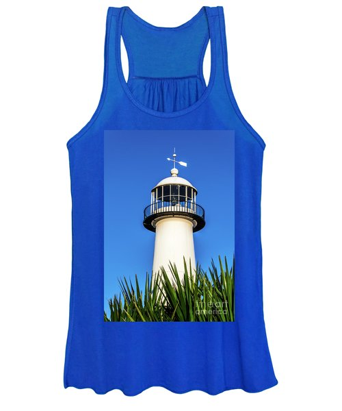 Gulf Coast Lighthouse Seascape Biloxi Ms 3819a Women's Tank Top