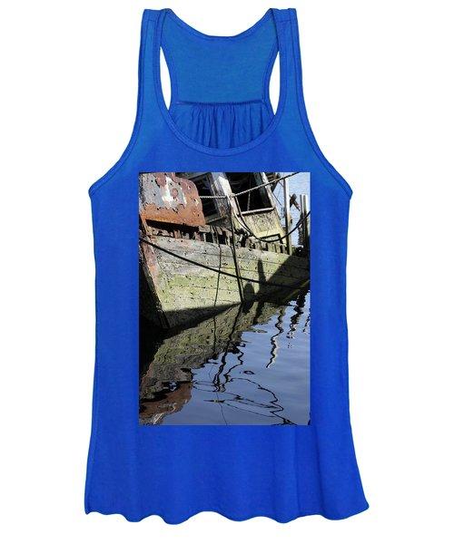 Half Sunk Boat Women's Tank Top