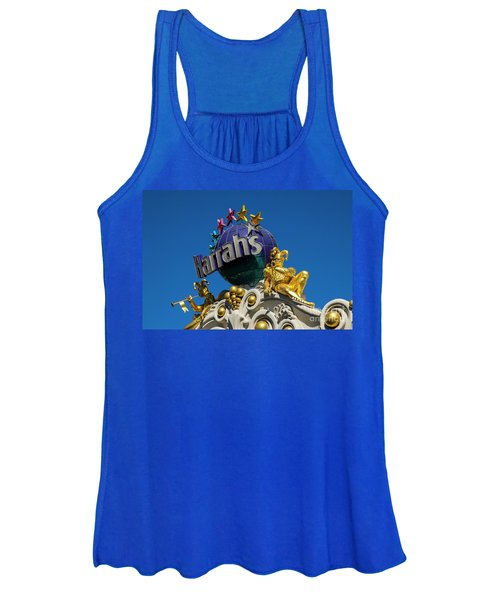 Harrah's Casino Sign On The Las Vegas Strip Women's Tank Top
