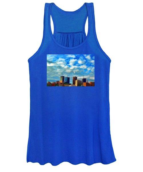 Huntsville Alabama Skyline Abstract Art Women's Tank Top