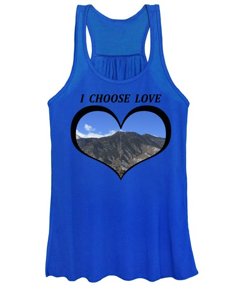 I Choose Love With The Manitou Springs Incline In A Heart Women's Tank Top