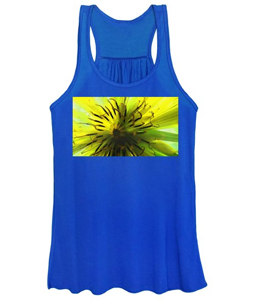 Inside A Yellow Goatsbeard  Women's Tank Top