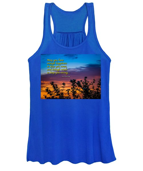 Women's Tank Top featuring the photograph Irish Blessing-may You Have Enough Happiness... by James Truett
