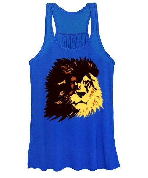 Lion Print Women's Tank Top