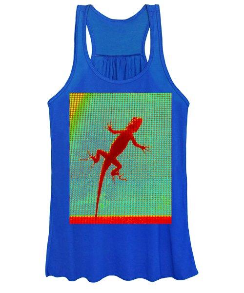 Lizard On The Screen Women's Tank Top