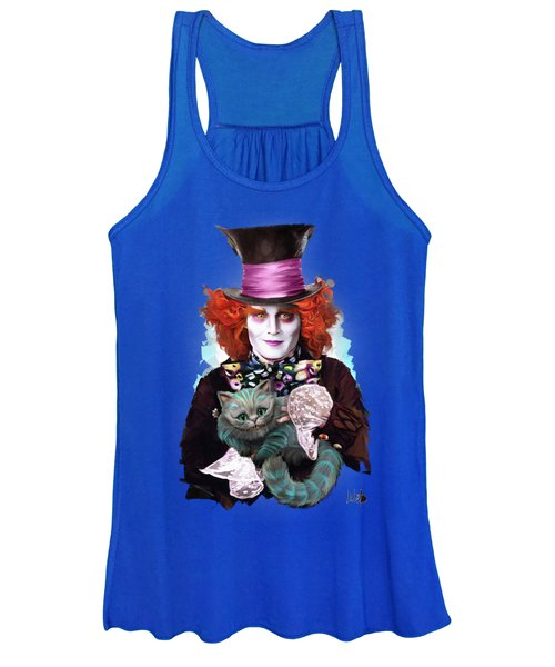 Mad Hatter And Cheshire Cat Women's Tank Top