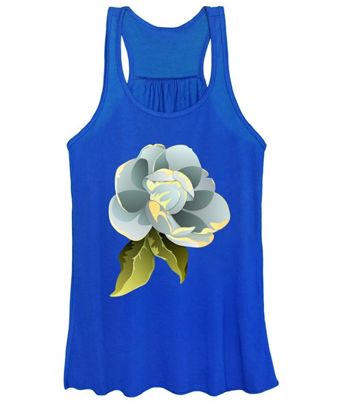 Magnolia Blossom Graphic Women's Tank Top