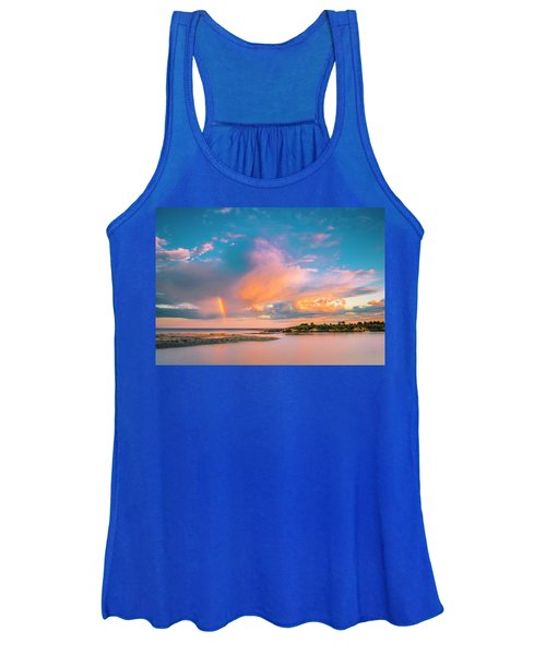 Maine Sunset - Rainbow Over Lands End Coast Women's Tank Top