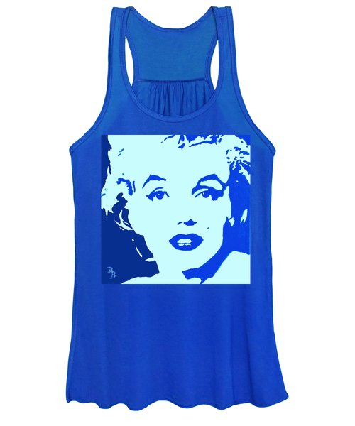 Marilyn Monroe Blue Pop Art Portrait Women's Tank Top