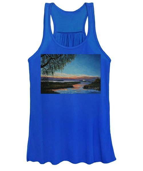 May River Sunset Women's Tank Top
