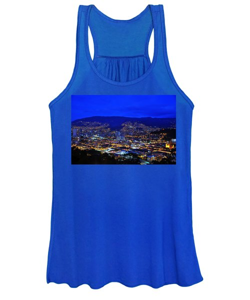 Medellin Colombia At Night Women's Tank Top