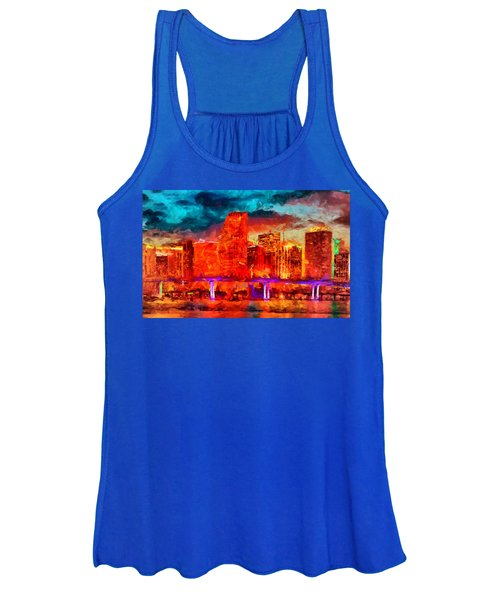Miami Skyline Women's Tank Top