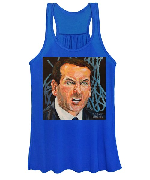 Mike Krzyzewski Aka Coach K Portrait Women's Tank Top