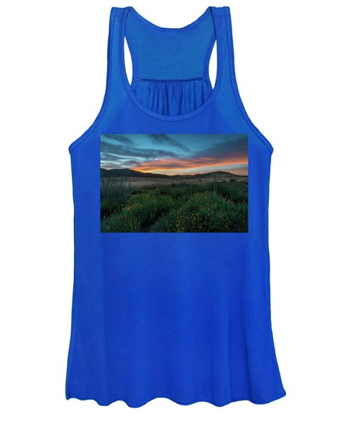 Mission Trails Poppy Sunset Women's Tank Top