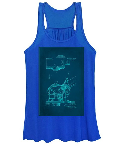 Motion Picture Machine Patent Drawing 1b Women's Tank Top