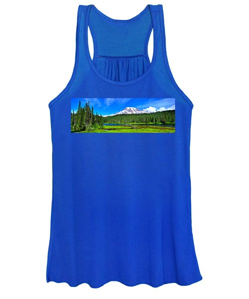 Mt. Rainier From Reflection Lakes Women's Tank Top
