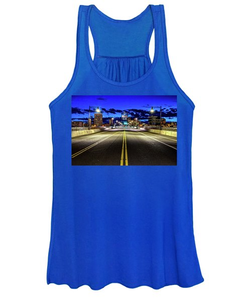 Murray Morgam Bridge During Blue Hour In Hdr Women's Tank Top