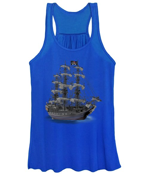 Mystical Moonlit Pirate Ship Women's Tank Top