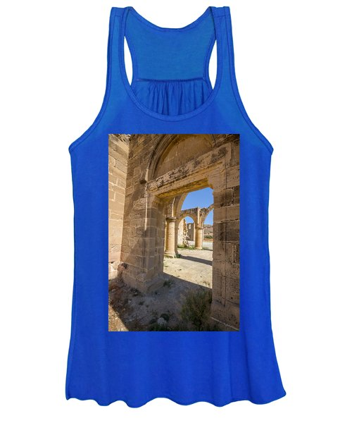 Nested Windowed View Of Church Ruins Women's Tank Top
