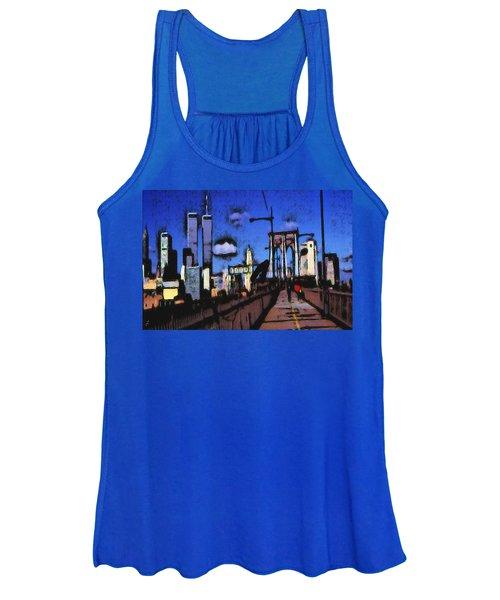 New York Blue - Modern Art Painting Women's Tank Top